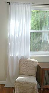 Sheer Cotton Voile Curtains by White Cotton Voile Sheer Curtain Panel Or Valance Handmade