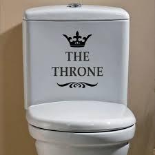 yoja 16x18cm die thron lustige interessant wc wand aufkleber badezimmer dekoration zubehör wohnkultur 4ws 0028