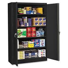 tennsco jumbo storage cabinet 5 shelf 78 x 48 w black by office
