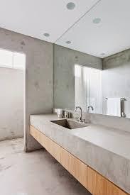 beton waschbecken minimalistische einrichtung