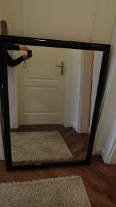 spiegel groß schwarzer rahmen glanz bad wohnzimmer schlafzimmer