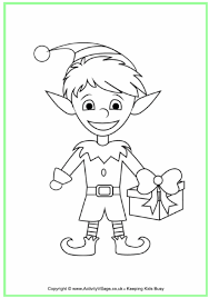 Innovative Ideas Elf Coloring Page Christmas Colouring Pages