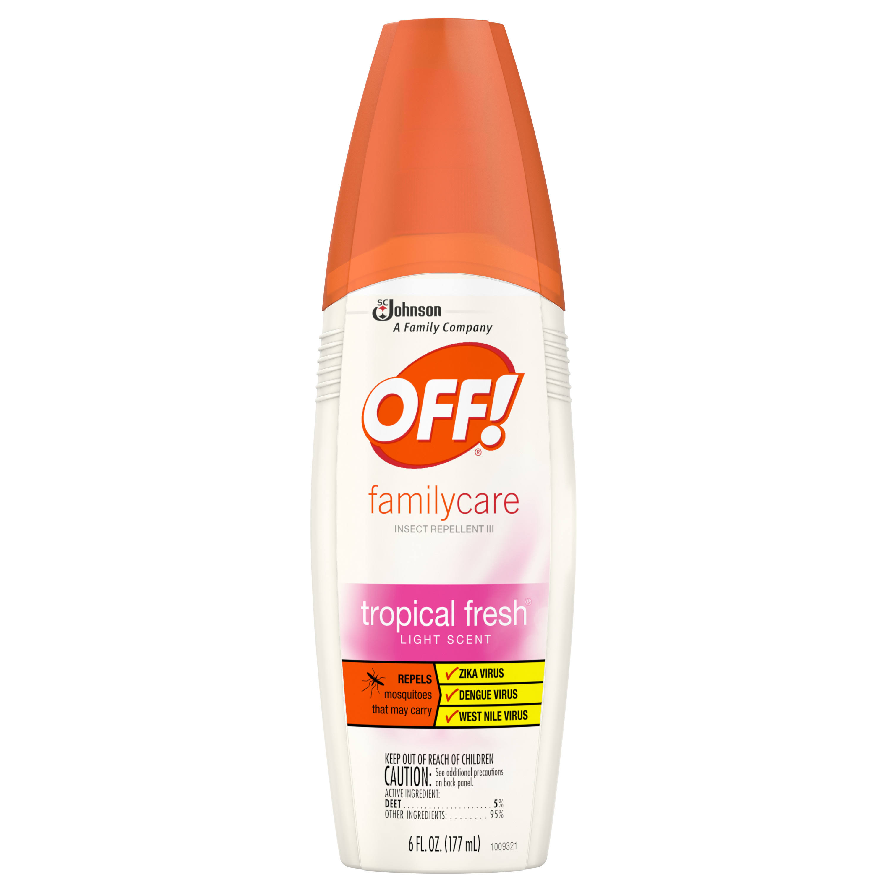 Off! Familycare Tropical Fresh Light Scent Insect Repellent Spray - 6oz