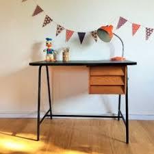 le bureau vintage bureau moderniste vintage bois et métal pièce unique inspiration