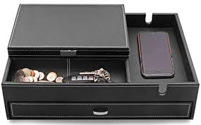 houndsbay big dresser valet box mens jewelry box organizer with