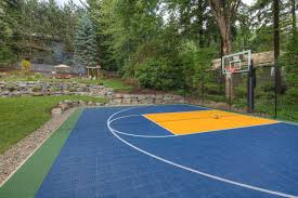 pit sport court oversized paver patio traditional