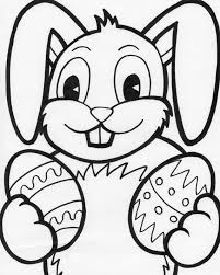 Easter Bunny Coloring Pages Photo