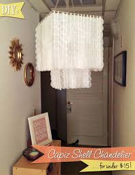 DIY Capiz Shell Chandelier Who Would Think This Was Made Out Of Waxed Paper