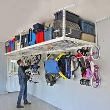 SafeRacks Overhead Garage Storage bo Kit Two 4 ft x 8 ft