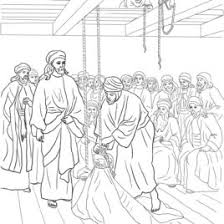Joseph And His Brothers Jesus Heals The Paralyzed Man Coloring Page