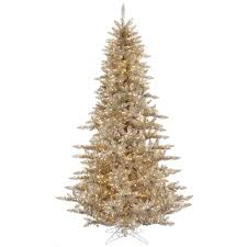 Vickerman Brown Plastic 3 Foot Champagne Fir Artificial Christmas Tree With 100 Clear Lights