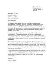 Yousuf Kadir Morgan Stanley Cover Letter