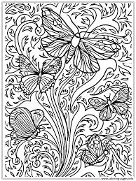 Free Printable Coloring Pages Butterflies Butterfly Adults For Crayola Printables Full Size