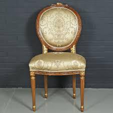 casa padrino barock esszimmerstuhl ludwig xv gold muster hellbraun 55 x 50 x h 100 cm antikstil möbel barockgroßhandel de