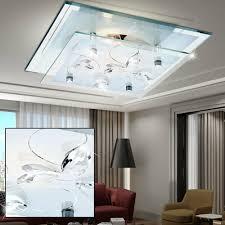 deckenleuchten led decken design le leuchte glas chrom