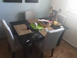 schwarzbrauner esstisch 4 stühle ikea kaufen auf ricardo