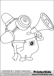 Bob Minion Despicable Me Coloring Pages