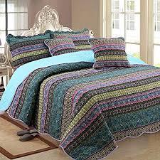 luofanfei tagesdecke baumwolle gesteppt bettüberwurf boho 100 überdecke steppdecke quilt bett überwurf vintage patchwork indische muster schlafzimmer