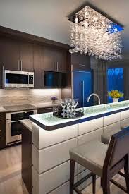 stunning led lights in the kitchen design above kitchen island