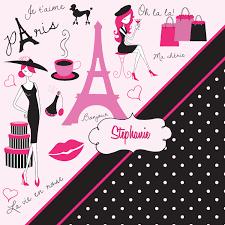 Paris Themed Bathroom Accessories by Paris Polka Dot Themed Bathroom Decor Pink U0026 Black Paris Shower