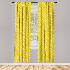 gardine fensterbehandlungen 2 panel set für wohnzimmer schlafzimmer dekor abakuhaus gelb und weiß spots kaufen otto
