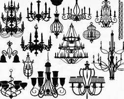 Chandelier Clip Art PNG Silhouettes Photoshop Brushes