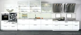 White Modern Cabinets Kitchen With Black Countertops