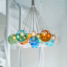 Impressive Modern Colorful Chandelier With Colored Glass Chandeliers Suppliers And
