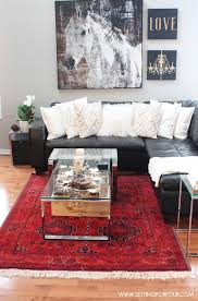 Rustic Glam Living Room New Rug