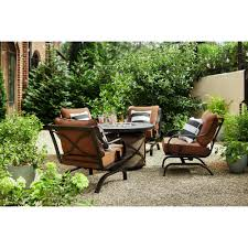 Hampton Bay South Grove Chocolate Brown Aluminum Stationary Rocking Outdoor  Lounge Chair With Cashew Cushions (4-Pack) Dorel Living Andover Faux Marble Counter Height 5 Pc Ding Set Denmark Side Chair Designmaster Fniture Ava Sectional Cashew Hyde Park Valencia Rectangular Extending Table Of 4 Button Back Chairs Room Big Sandy Superstore Oh Ky Wv Hampton Bay Oak Heights Motion Metal Outdoor Patio With Cushions 2pack Sofa Usb Charging Ports Intercon Nantucket Transitional 7 Piece A La Carte And Liberty