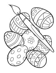 Easter Egg Coloring Pages Inspiration Graphic Free Printable Eggs