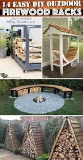 14 easy diy outdoor firewood racks to keep those logs perfectly
