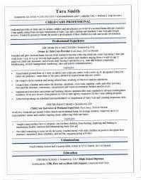 Child Care Resume Samples SHPN Sample