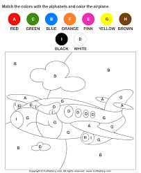 Coloring Letters Worksheet