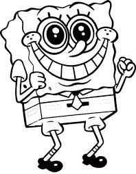 Free Coloring Pages Of Funny Spongebob