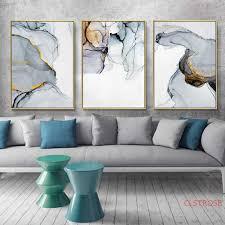 blau grau marmor leinwand kunstdruck abstrakte malerei poster wand bilder für wohnzimmer gemälde bilder wand kunst poster malerei und kalligraphie