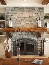 Simply Cover An Existing Fireplace With Real Thin Stone Natural Weather Muskoka Ledgerock Veneer