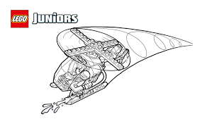 LEGOR Juniors Fire Helicopter Coloring Page