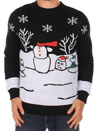 Frosty Snowman White Christmas Tree by Ugly Christmas Sweater Headless Snowman Sweater By Tipsy Elves
