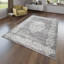 wohnzimmer teppich modernes orientalisches design kurzflor