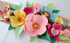 DIY Hand Cut Paper Flowers