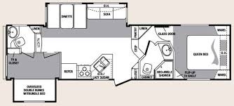 Fifth Wheel Bunkhouse Floor Plans keystone cougar fifth wheel floorplan 293sab jpg