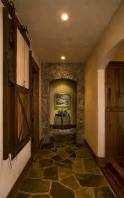 Lake Cabin Hallway Rustic Hall