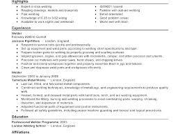 Welding Resume Examples Sample Welders Welder Format For Beautiful