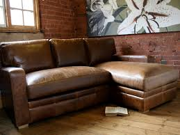 Distressed Leather Sofa Best Rustic Leather Sectional Sofa With