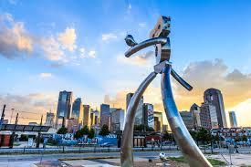 Deep Ellum 42 Murals by Walking Man Sculpture Deep Ellum Dallas Dallas The 214