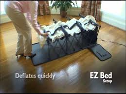 Ez Bed Inflatable Guest Bed by Inflatable Ez Beds Youtube