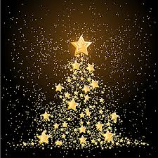 Christmas Golden Glitter Stars Background Material