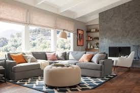 Grey Leather Sectional Living Room Ideas by Grey Leather Sectional Living Room Contemporary With Beige Ottoman