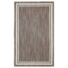 Border Loop Taupe Cream 8 ft x 10 ft Area Rug The Home